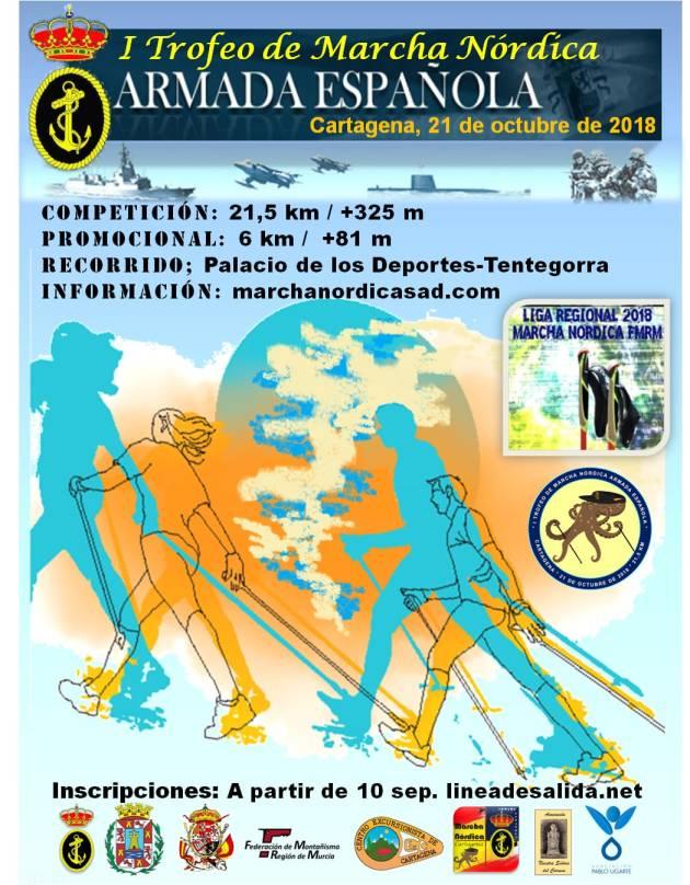 Cartel de I Trofeo Marcha Nórdica  Armada Española.jpg